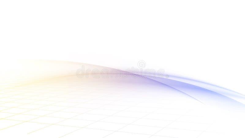 Vagues brouillées avec une grille illustration de vecteur