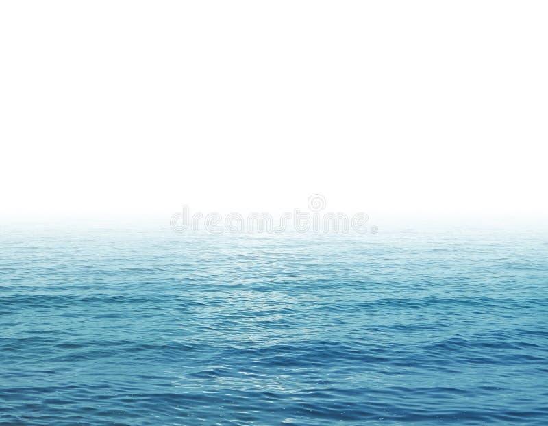 Vagues de mer et fond blanc image libre de droits