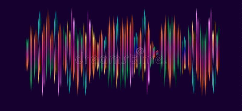 Vagues de musique électronique illustration libre de droits