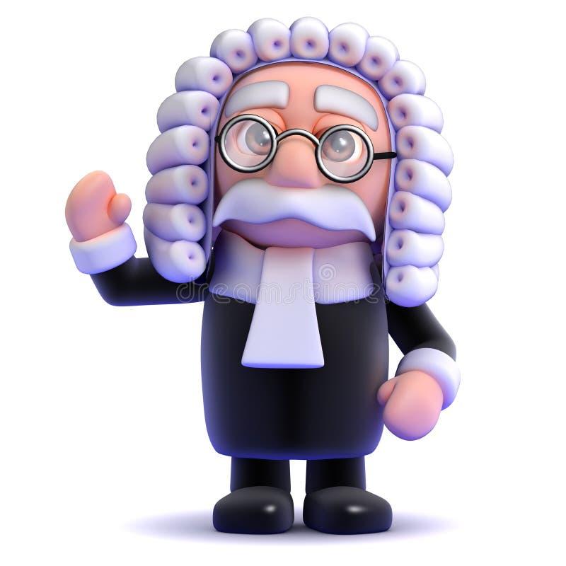 vagues du juge 3d illustration de vecteur