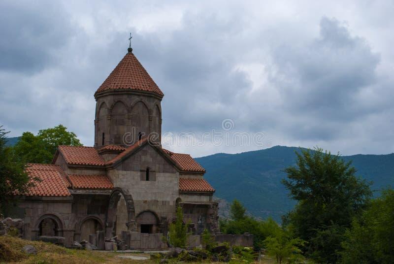 Vahanavank μοναστικό σύνθετο κοντινό Kapan, επαρχία Syunik της Δημοκρατίας Αρμενία στοκ φωτογραφία