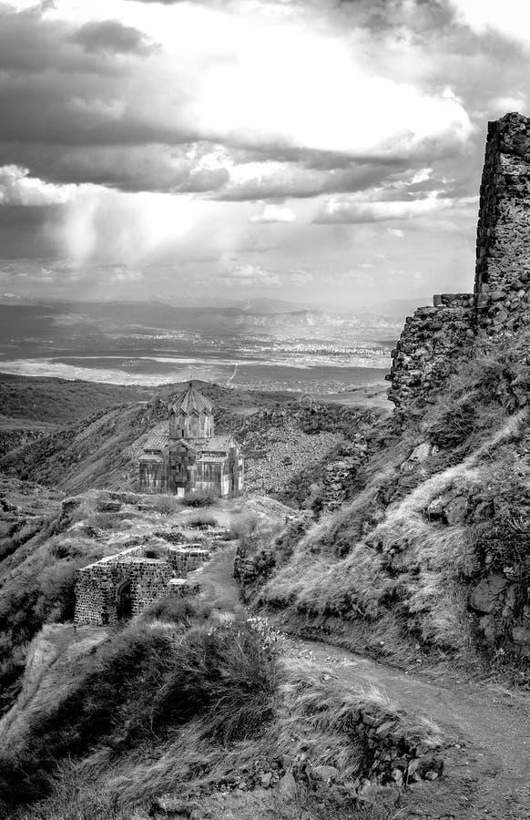 Vahramashen Surp Astvatsatsin eller kyrkan av Amberd arkivfoton