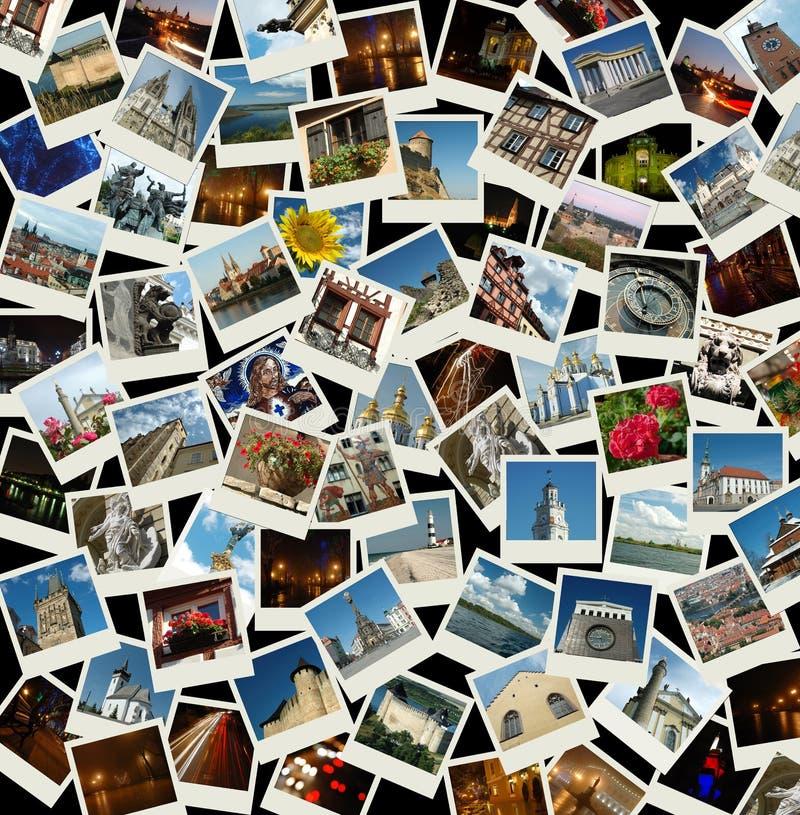 Vai Europa - colagem com as fotos de Europa foto de stock royalty free