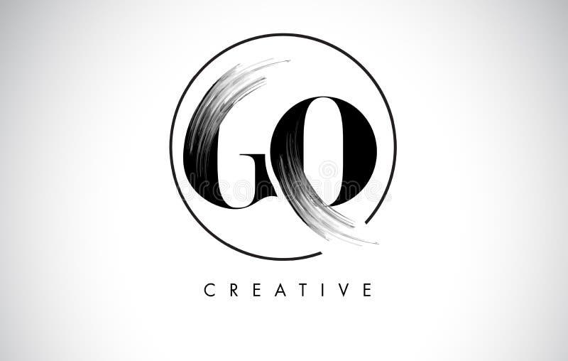VAI a letra Logo Design do curso da escova Pintura preta Logo Letters Icon ilustração do vetor