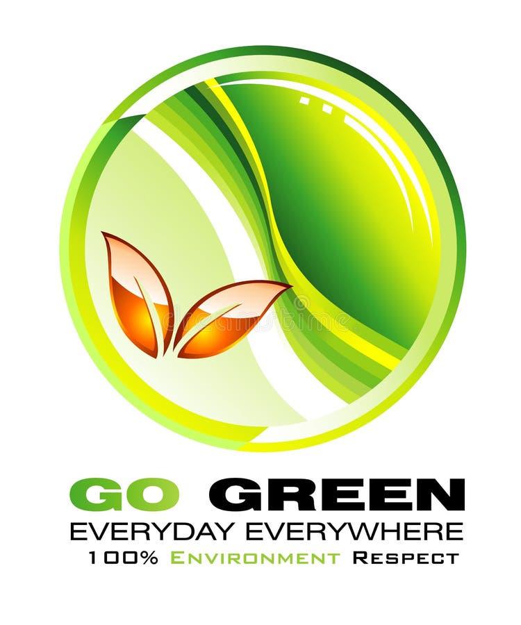Vai o backgroud verde do conceito ilustração do vetor