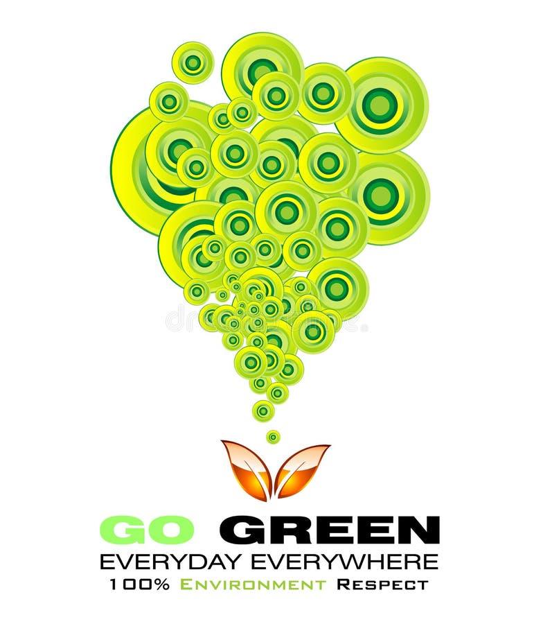 Vai o cartão verde do ambiente ilustração royalty free