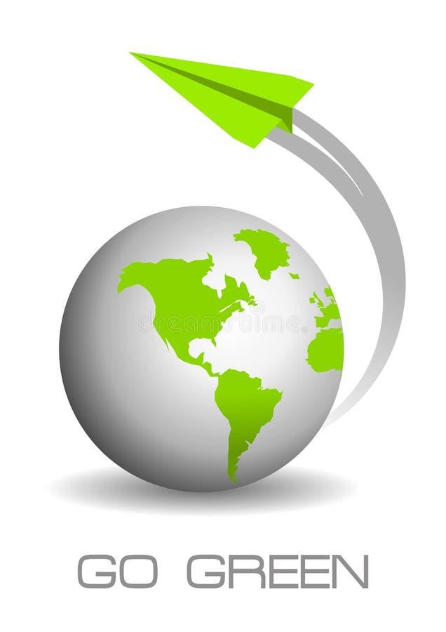 Vai o conceito verde ilustração do vetor