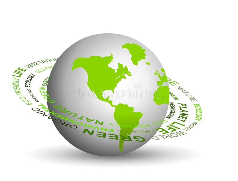 Vai o conceito verde ilustração stock