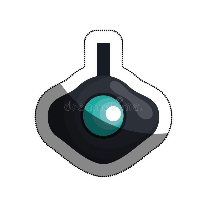 vai o pro ícone da câmara de vídeo ilustração do vetor