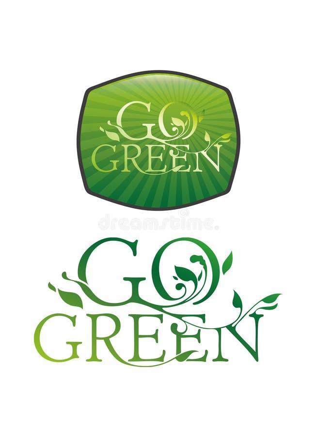 Vai o typography verde ilustração do vetor