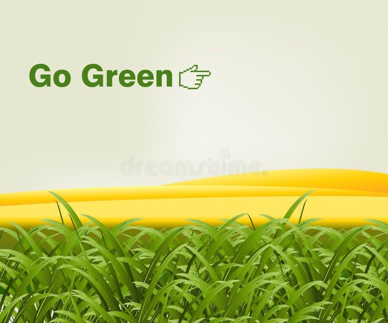 Vai o verde ilustração do vetor