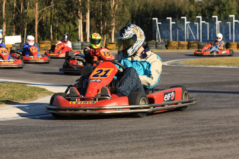 Vai a raça de Karts imagem de stock royalty free