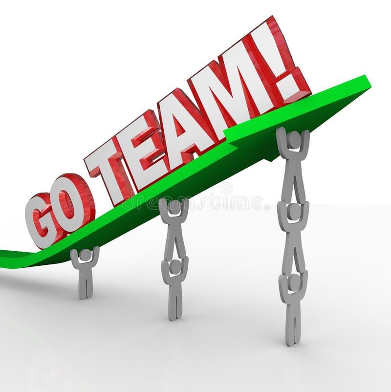 Vai Team Cheerleading People Lift Words ilustração do vetor