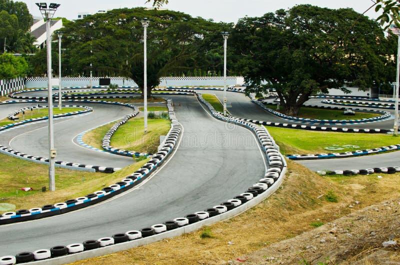 Vai a trilha de raça de Kart. fotos de stock