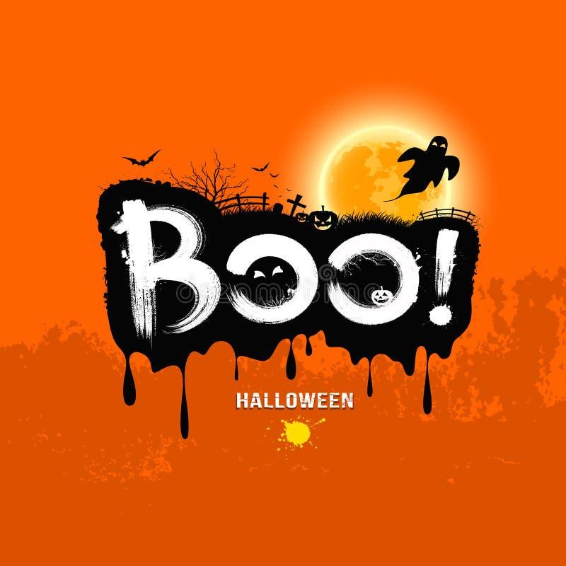 Vaia da mensagem de Dia das Bruxas!. projeto ilustração stock