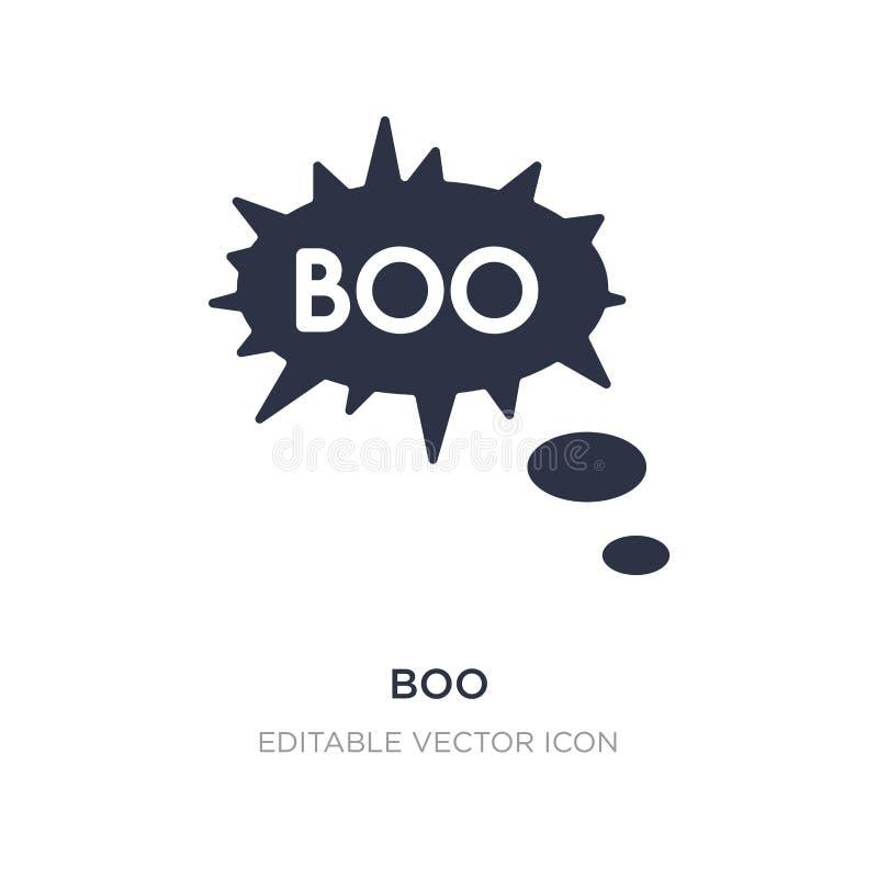 vaiar o ícone no fundo branco Ilustração simples do elemento do conceito de Dia das Bruxas ilustração stock