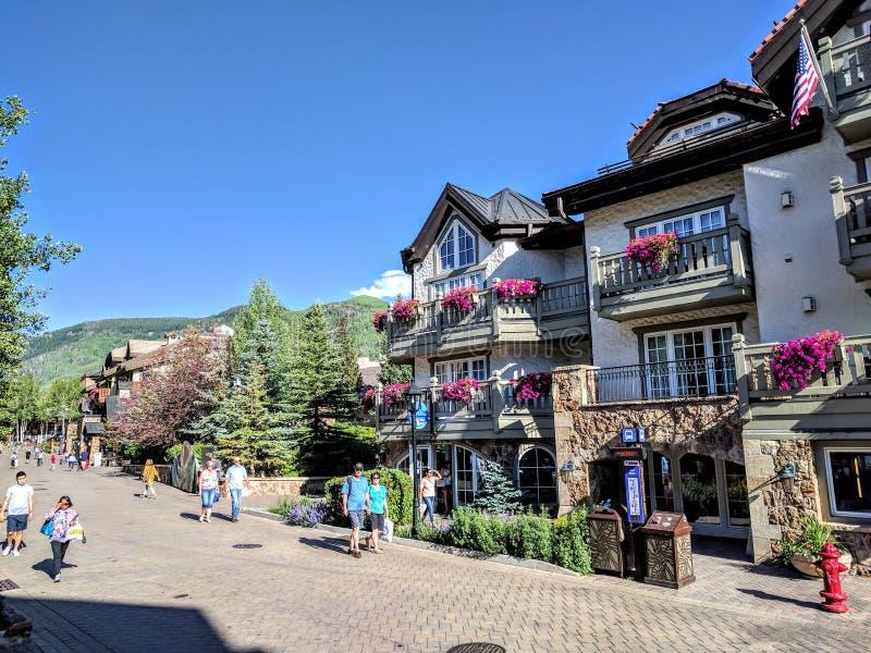 Vail Colorado imágenes de archivo libres de regalías