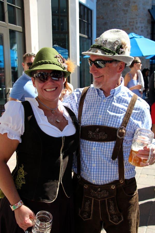 VAIL, COLORADO, de V.S. - 10 September, 2016: Jaarlijkse viering van Duitse cultuur, voedsel en drank royalty-vrije stock foto's