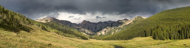 Vail Colorado Rocky Mountain Piney River Panoramic stock image