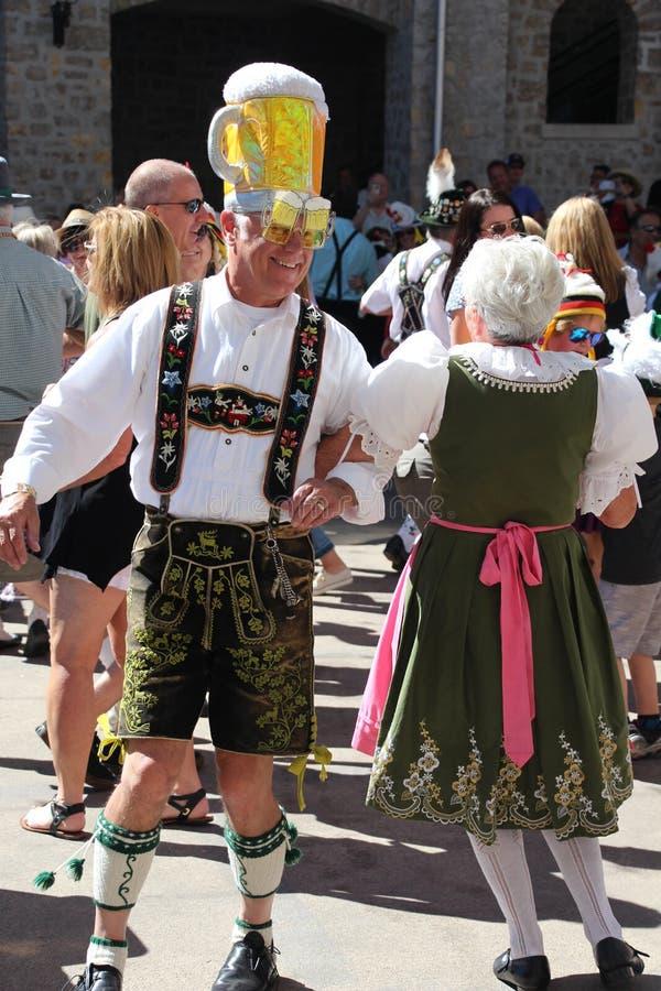VAIL, KOLORADO, usa - Wrzesień 10, 2016: Roczny świętowanie Niemiecka kultura, jedzenie i napój, zdjęcia stock