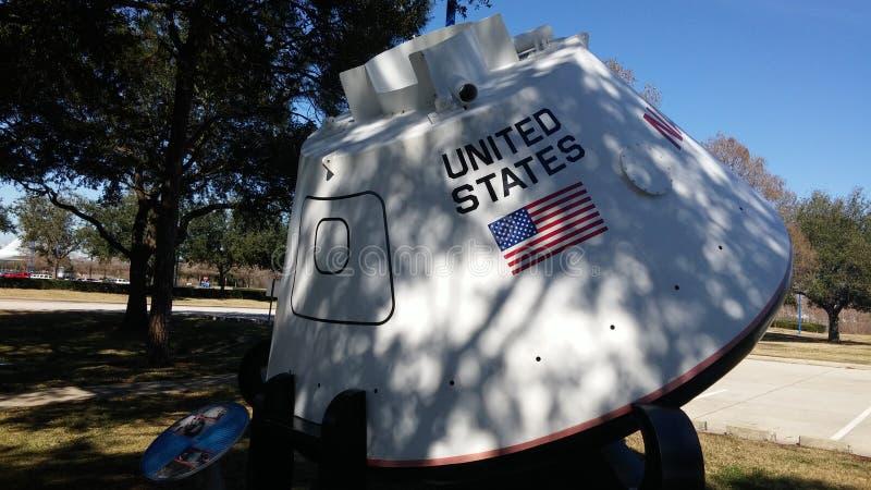 Vaina de la NASA Houston Apolo fotografía de archivo libre de regalías