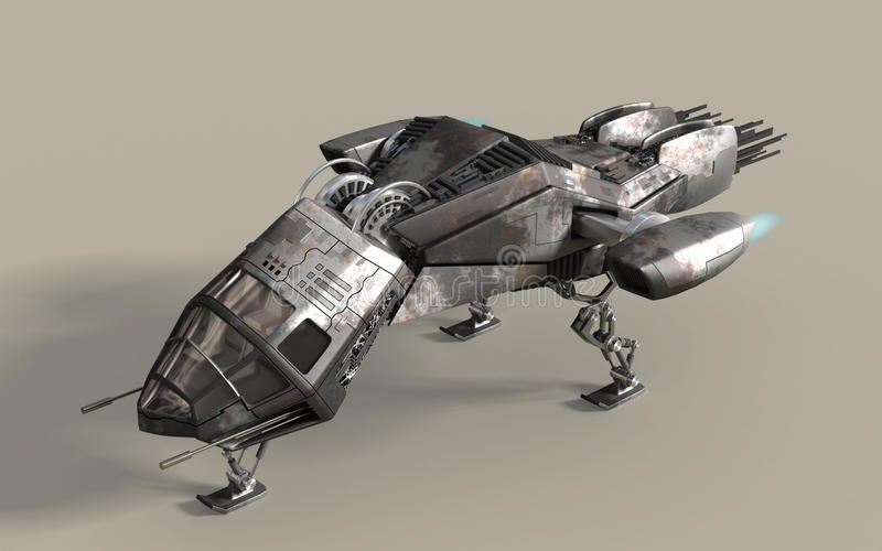 Vaina futurista del acorazado 3D libre illustration