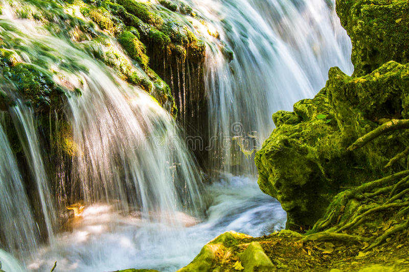 Vaioaga waterfall in Cheile Nerei-Beușnița National Park stock photos