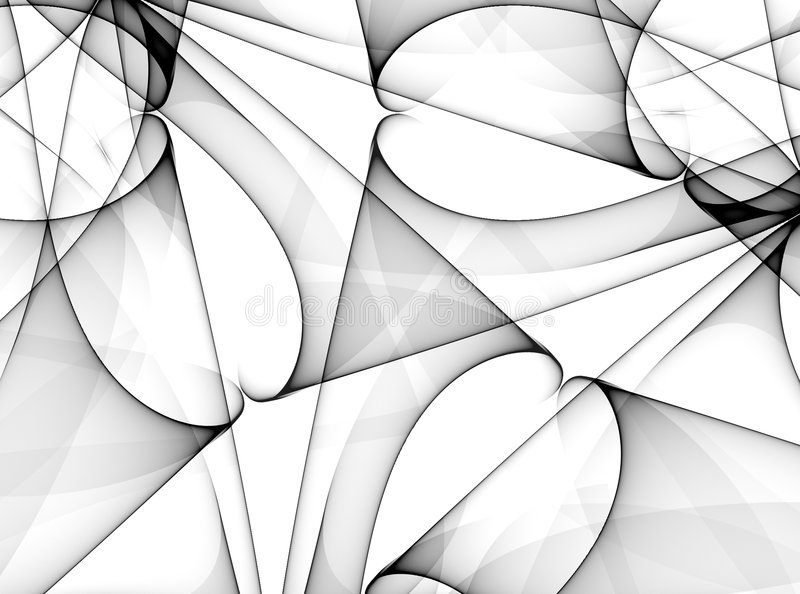 Vaious Black Lines Patterns. A digital art design in black and white of swirling lines, shapes and curves vector illustration
