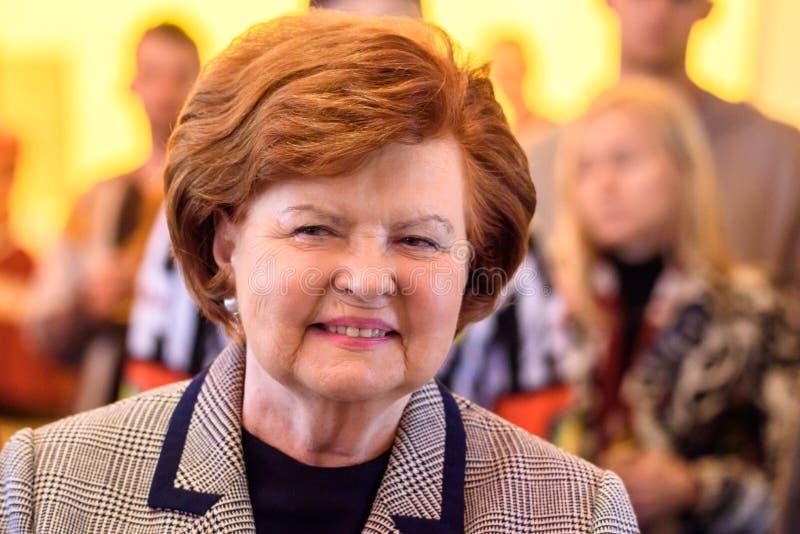 Vaira Vike Freiberga, ancien président de la Lettonie photos stock