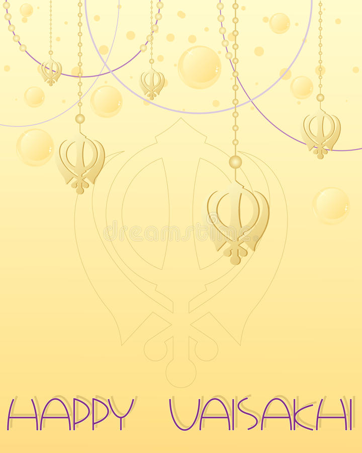 Download Vaisakhi greeting stock vector. Image of tradition, golden - 33904276