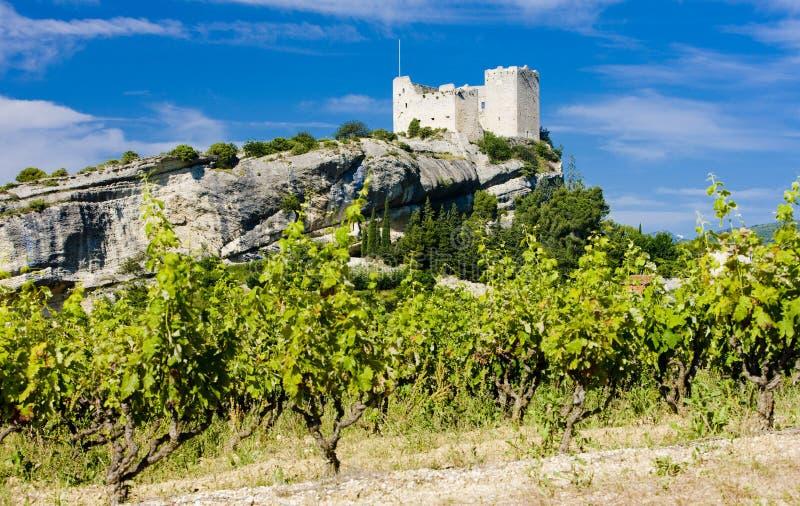Vaison-la-Romaine. Ruins of castle, Vaison-la-Romaine, Provence, France stock photography