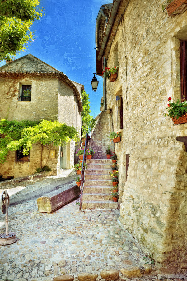 Vaison la Romaine, Provence stock photo