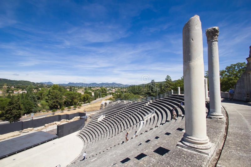Vaison-la-Romaine - Roman Theatre stock photo