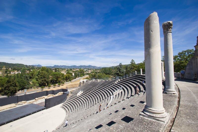 Vaison-La-Romaine - teatro romano fotografia stock