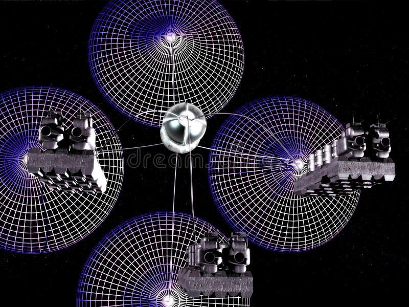 Vaisseau spatial d'épuisette de Hidrogen photographie stock libre de droits