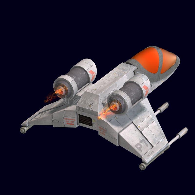 Vaisseau spatial de Sci fi en univers illustration libre de droits