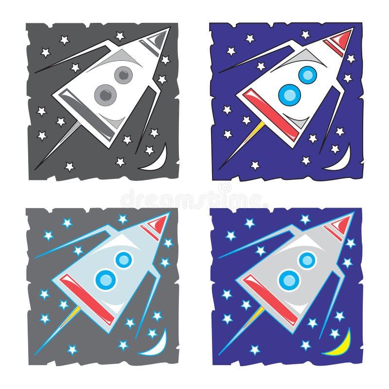 Vaisseau spatial, illustration de vecteur photos libres de droits