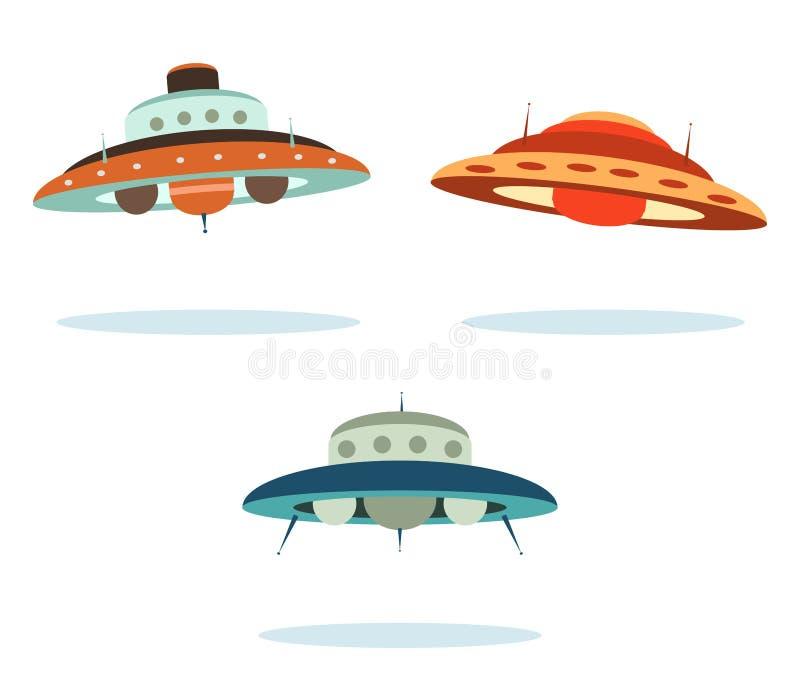 Vaisseaux spatiaux illustration stock
