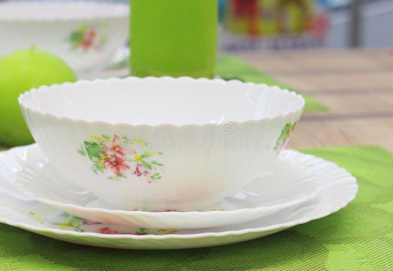 Vaisselle de célébration image stock