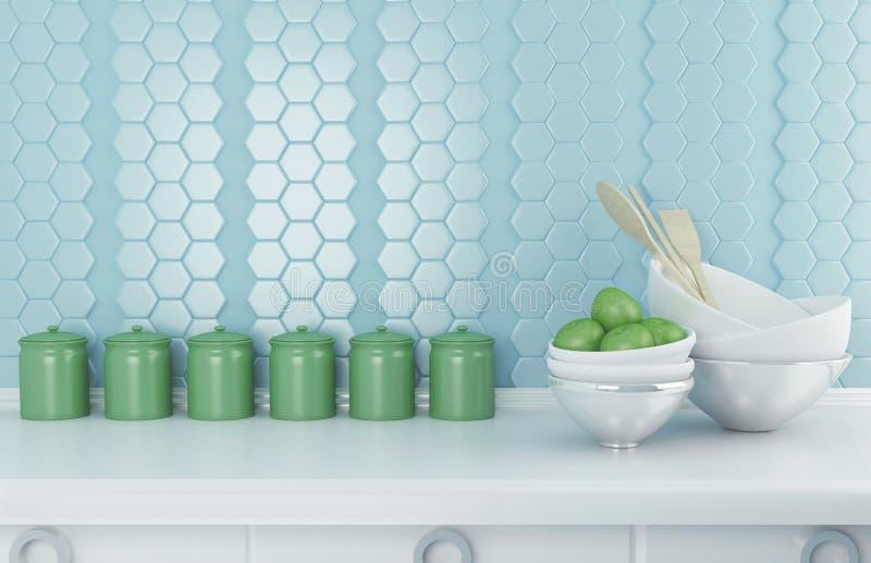 Vaisselle de cuisine en céramique illustration de vecteur
