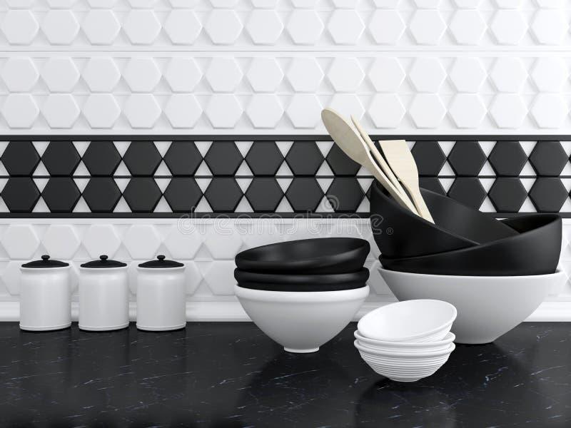 Vaisselle de cuisine en céramique images libres de droits