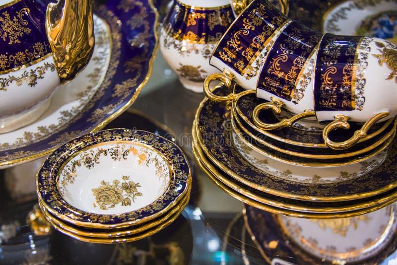 Vaisselle de luxe de porcelaine images libres de droits