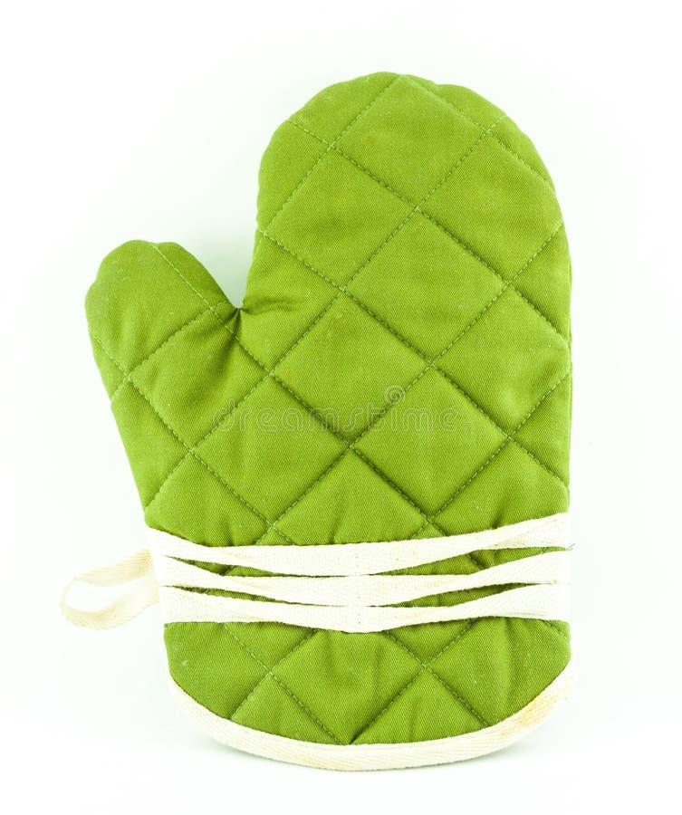 Vaisselle ou gant verte de cuisine photo stock