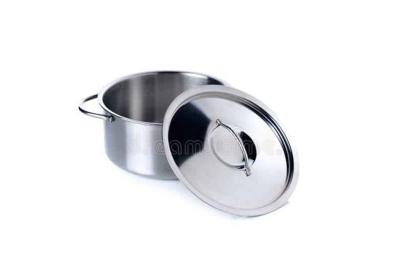 Vaisselles de cuisine pour l'imagination d'enfants sur le blanc photos libres de droits