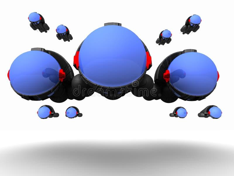 Vaivém espacial estrangeiro futurista ilustração stock