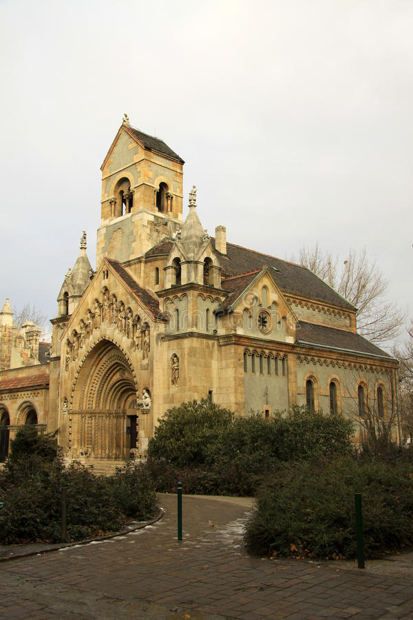 Vajdahunyad城堡,教堂,布达佩斯 免版税库存图片