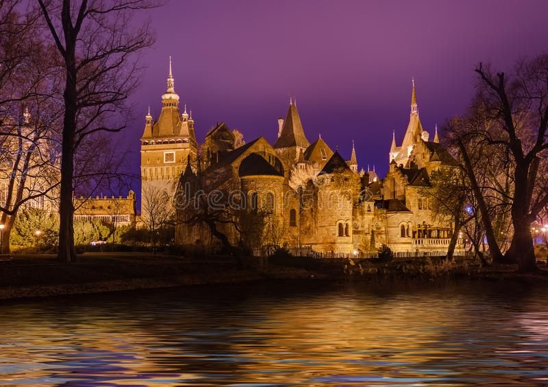 Vajdahunyad Castle στη Βουδαπέστη Ουγγαρία στοκ φωτογραφία με δικαίωμα ελεύθερης χρήσης