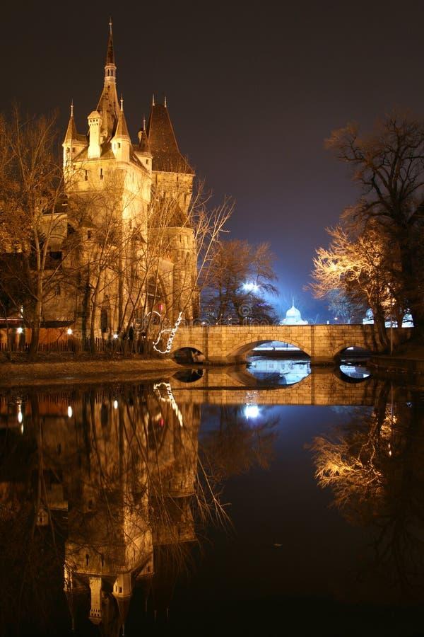 Vajdahunyad castle stock photo