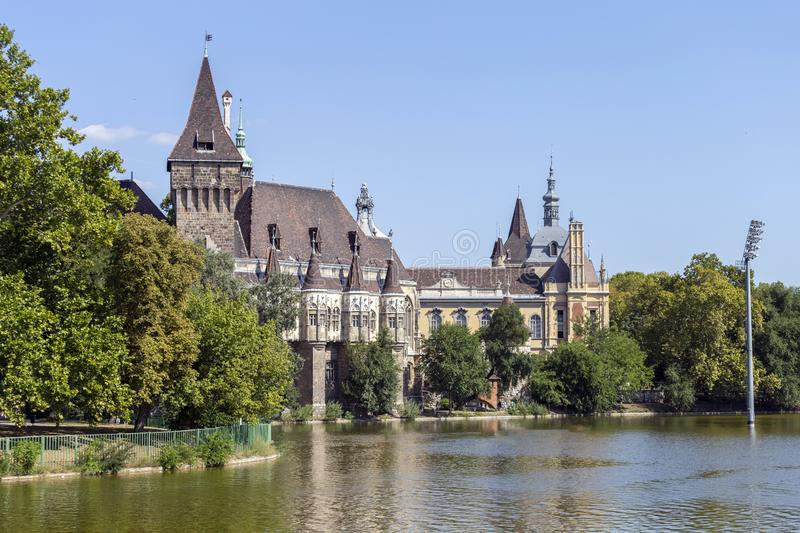 Vajdahunyad Castle in Budapest, Hungary.  royalty free stock photography