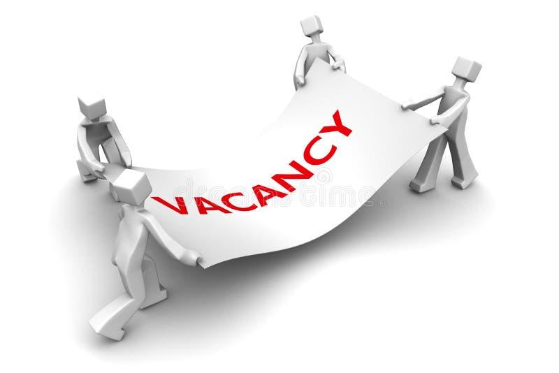 vakans för nedgång för jobb för begreppsekonomislagsmål stock illustrationer